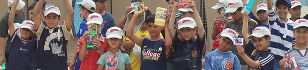 Iraqi children receive Girl Scout cookies donated by Flashpoint